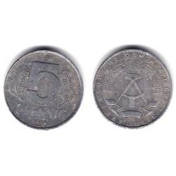 (9.1) Alemania Democrática. 1968(A). 5 Pfennig (BC+)