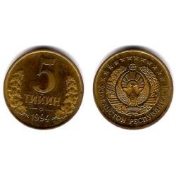 (3) Uzbekistán. 1994. 5 Tiyin (EBC)