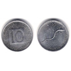 (7) Eslovenia. 1993. 10 Stotinov (SC)