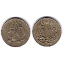 (20) Corea del Sur. 1982. 50 Won (BC+)