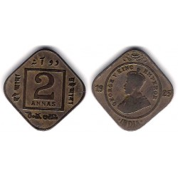 (516) India Británica. 1925. 2 Annas (MBC)