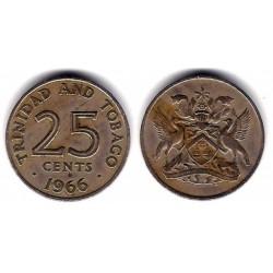 (4) Trinida y Tobago. 1966. 25 Cents (MBC)