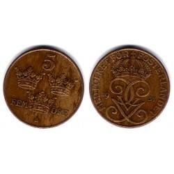 (779.2) Suecia. 1937. 5 Ore (MBC)