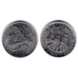 (33) San Marino. 1974. 10 Lira (SC)