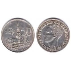 (150.1) Bélgica. 1958. 50 Francs (EBC) (Plata)