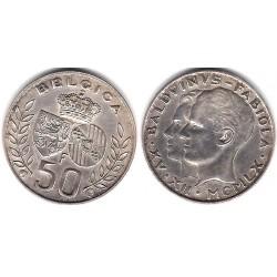 (152.1) Bélgica. 1960. 50 Francs (EBC) (Plata)