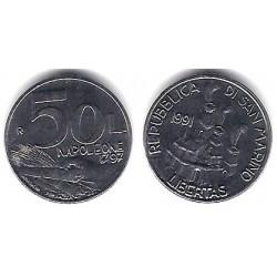 (266) San Marino. 1991. 50 Lira (SC)