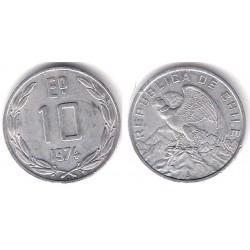 (200) Chile. 1974. 10 Escudos (EBC)