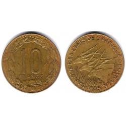 (9) Estados África Central. 1985. 10 Francs (MBC)