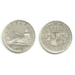 1870*(18-73) 1 Peseta (MBC)