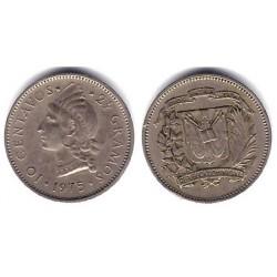 (19a) República Dominicana. 1975. 10 Centavos (MBC)