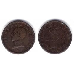 Alfonso XIII. 1912*(12). 2 Céntimos (BC) Ceca de Madrid PC-V