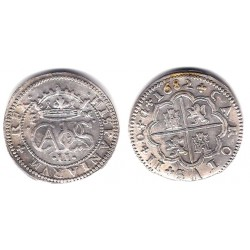 Carlos II. 1682. 2 Reales (EBC) (Plata) Ceca de Segovia