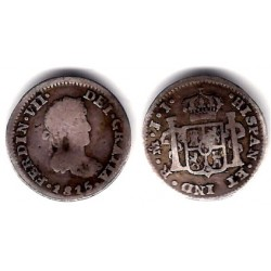 Fernando VII. 1815. ½ Real (BC) (Plata) Ceca de Mejico JJ