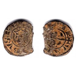 Jaime I. 1238-76. Dinero (RC+) Ceca de Valencia