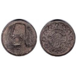 (366) Egipto. 1937. 5 Piastres (MBC) (Plata)