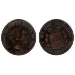 Alfonso XII. 1879. 10 Céntimos (BC-) Ceca de Barcelona OM