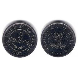(200) Bolivia. 1987. 2 Centavos (SC)