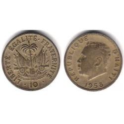 (63) Haití. 1958. 10 Centimes (MBC)