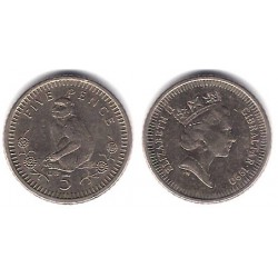 (22) Gibraltar. 1990. 5 Pence (MBC)