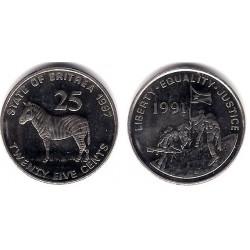 (46) Eritrea. 1997. 25 Cents (SC)