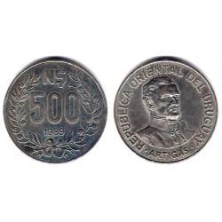 (98) Uruguay. 1989. 500 Nuevos Pesos (MBC)