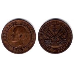 (41) Haiti. 1863. 20 Centimes (MBC)