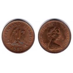 (2) Islas Malvinas. 1987. 1 Penny (MBC+)