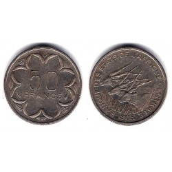 (11) Estados Africa Central. 1985(D). 50 Francs (MBC-)