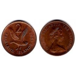 (131) Islas Malvinas. 1987. 2 Pence (EBC)