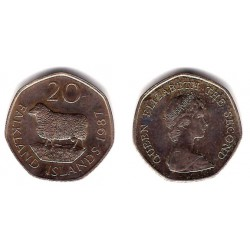 (17) Islas Malvinas. 1987. 20 Pence (EBC)