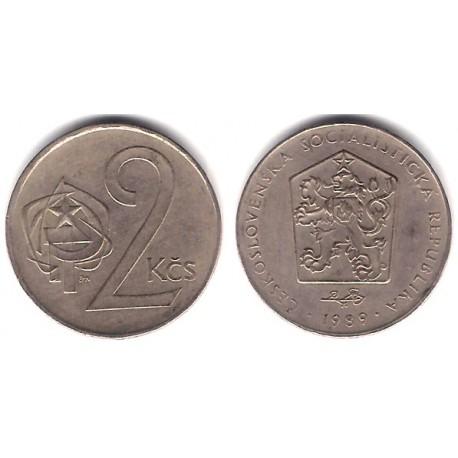 (75) Checoslovaquia. 1989. 2 Koruny (MBC)