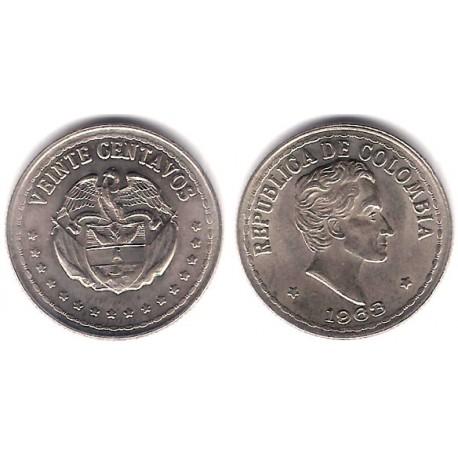(215.2) Colombia. 1963. 20 Centavos (SC)