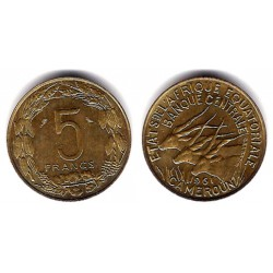 (10) Camerún. 1961. 5 Francs (EBC)