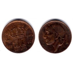 (145) Bélgica. 1954. 50 Centimes (MBC)