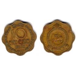 (130) Ceilán. 1971. 10 Cents (BC)