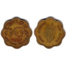 (121) Ceilán. 1951. 10 Cents (BC)