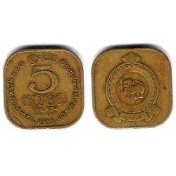 (129) Ceilán. 1965. 5 Cents (BC)