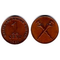 (6) Malaya. 1962. 1 Cent (EBC)