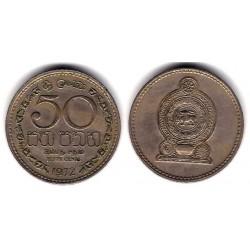 (132) Ceilán. 1972. 50 Cents (MBC)