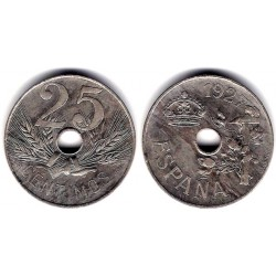 Alfonso XIII. 1927. 25 Céntimos (EBC+) Ceca de Madrid PC-S