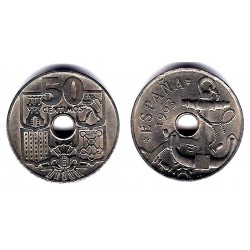 Estado Español. 1949*(19-64). 50 Céntimos (EBC) Defecto Acuñación