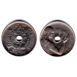 España (II República). 1934. 25 Céntimos (SC) Ceca de Madrid