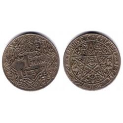 (Y36.1) Marruecos. 1921. 1 Franc (EBC)