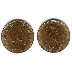 (17) Islas Comores. 1992. 10 Francs (EBC+)