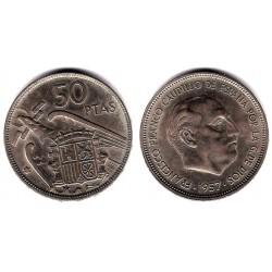 Estado Español. 1957*(67). 50 Pesetas (EBC)