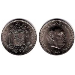 Estado Español. 1949*(19-50). 5 Pesetas (SC)