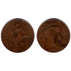 (843) Francia. 1907. 10 Centimes (BC)