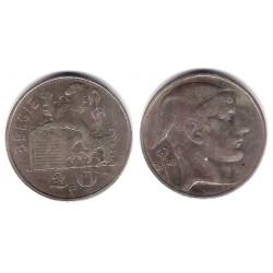 (141.2) Bélgica. 1949. 20 Francs (BC+) (Plata)