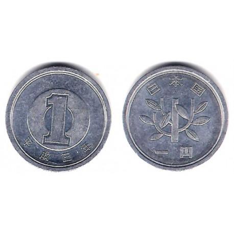 (Y95.2) Japón. 1991(3). 1 Yen (MBC)